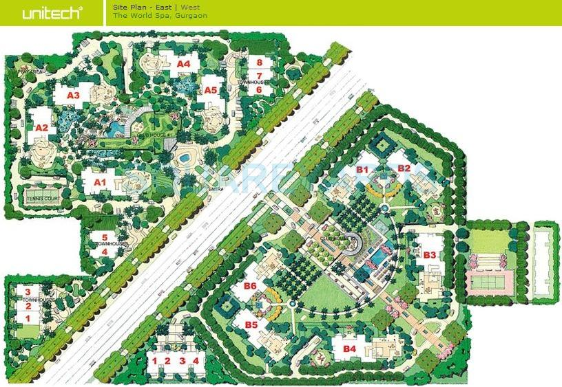 unitech the world spa master plan image1