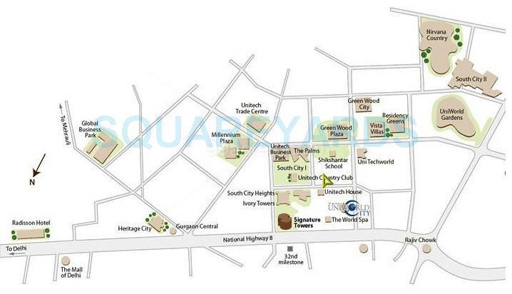 unitech uniworld city location image1
