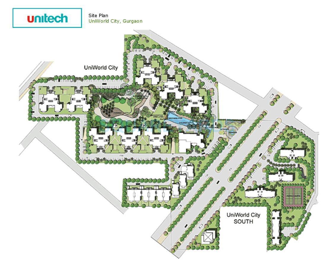 unitech uniworld city master plan image1