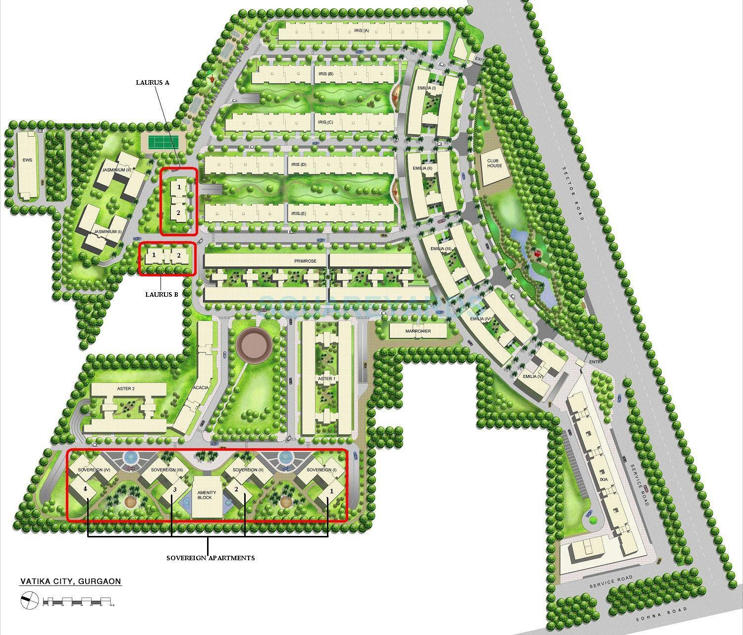 vatika city sovergian master plan image1
