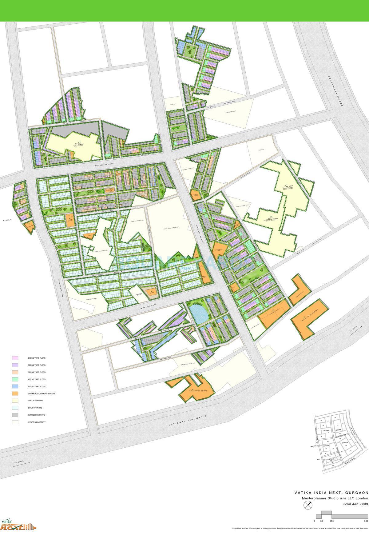 vatika inxt floors master plan image1