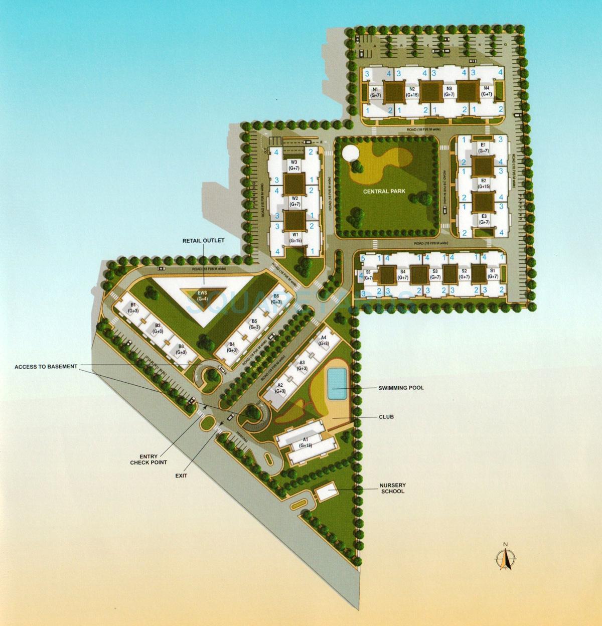 vatika lifestyle homes master plan image1