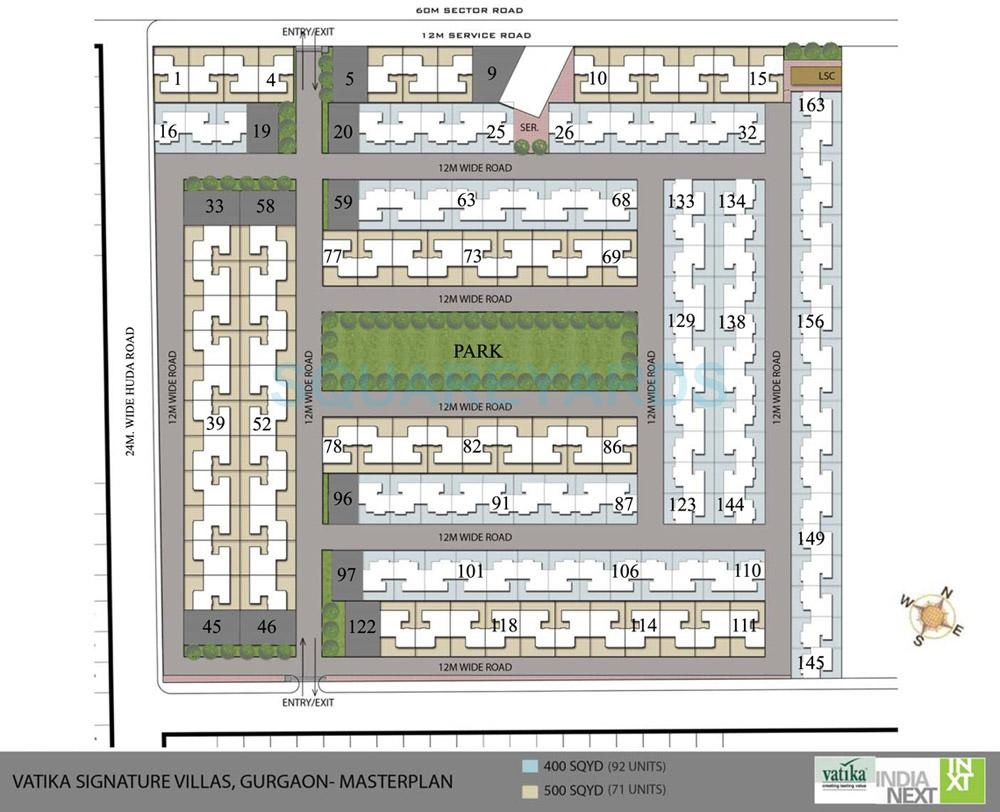 vatika signature villas master plan image7