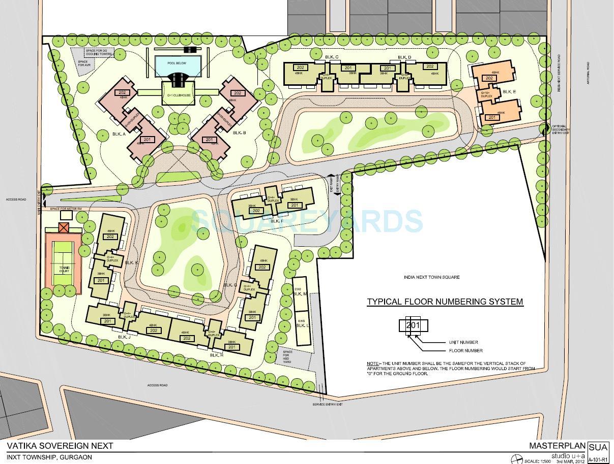 vatika sovereign next sector 82 a gurgaon master plan image1