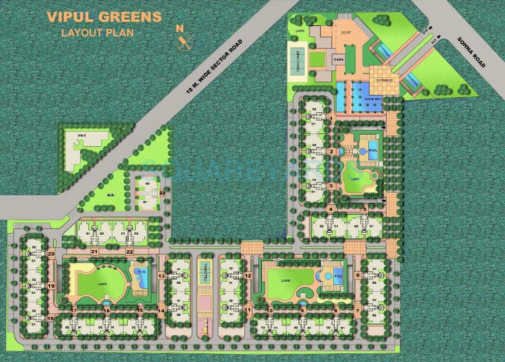vipul greens floor plans vipul greens site plan