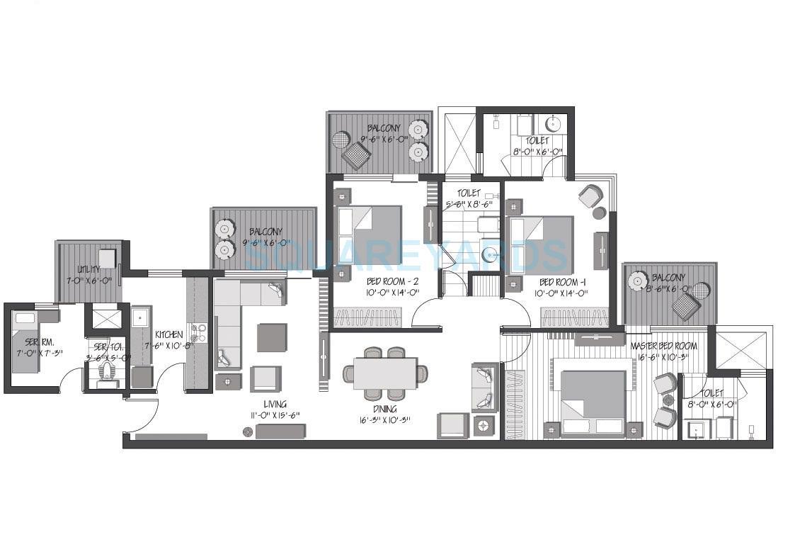 3c orris greenopolis apartment 3bhk 1957sqft 1