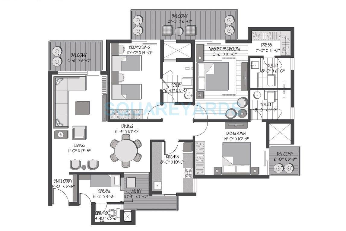 3c orris greenopolis apartment 3bhk 2036sqft 1