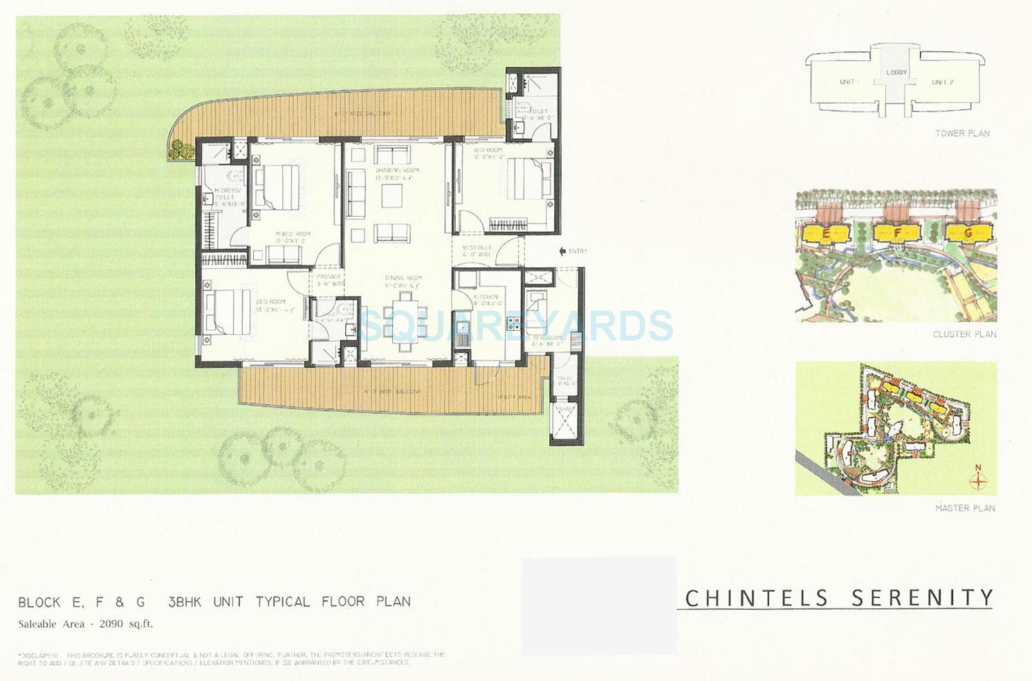 3c orris greenopolis apartment 3bhk sq 2090sqft 1