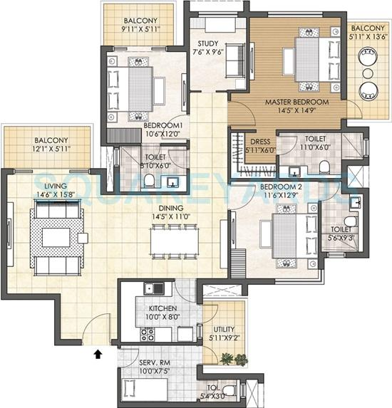 adani oyster grande apartment 3bhk sq st 2598sqft 1