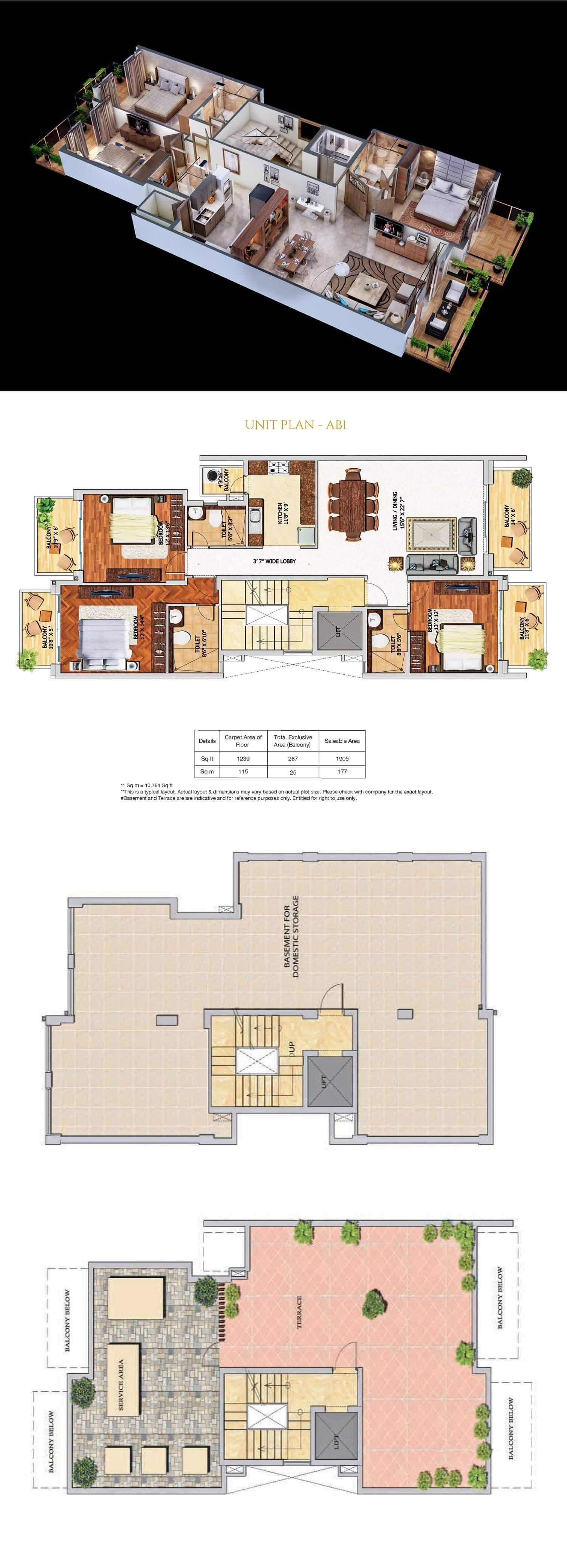 adani samsara apartment 3bhk 1239sqft 1