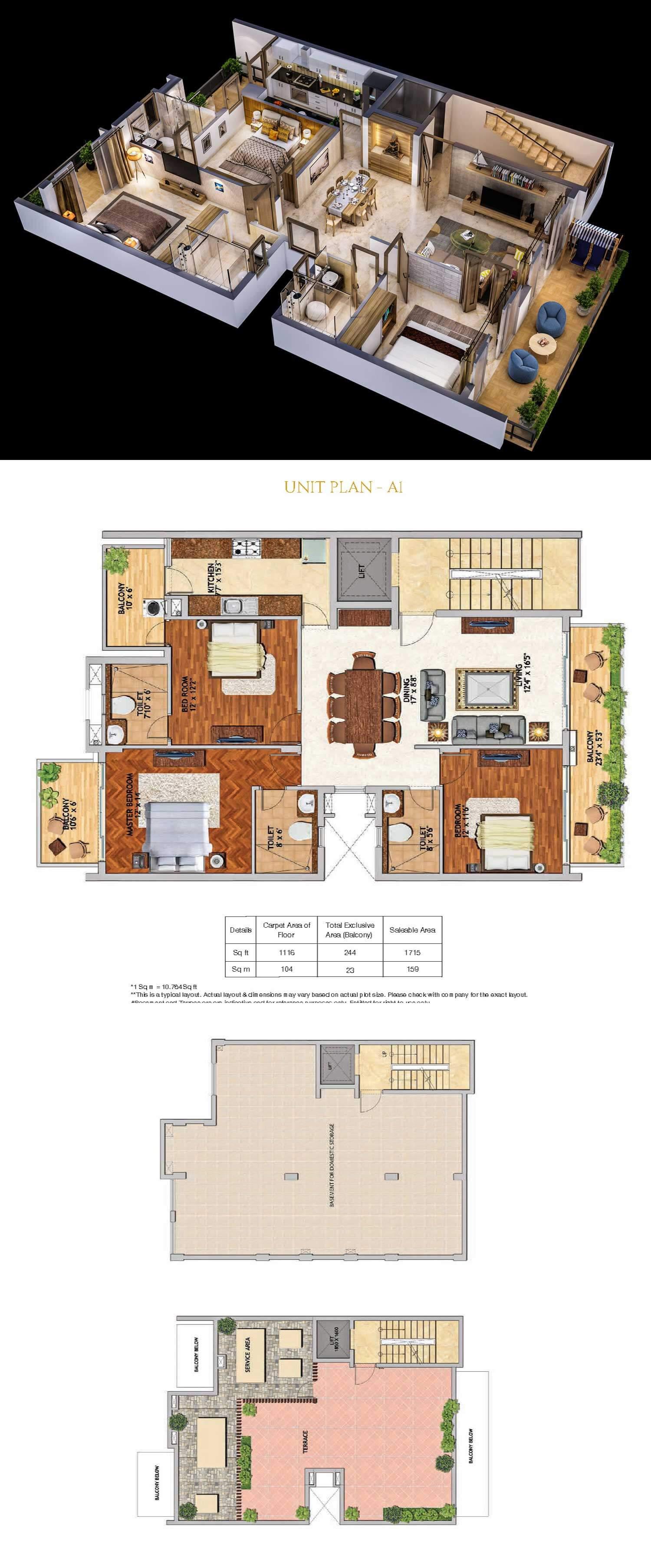 3 Bhk 1116 Sq Ft Villa For Sale In Adani Samsara At Rs 1 70 Cr Gurgaon
