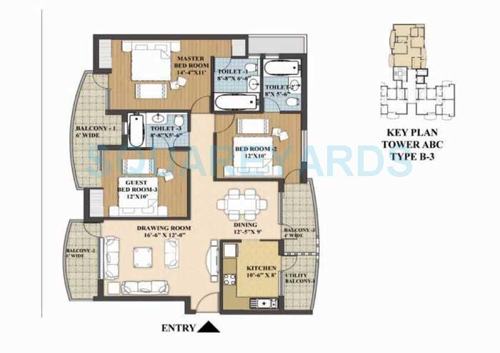 akme raaga apartment 3bhk 1667sqft 1