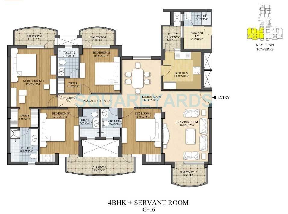 akme raaga apartment 4bhk 2401sqft 1
