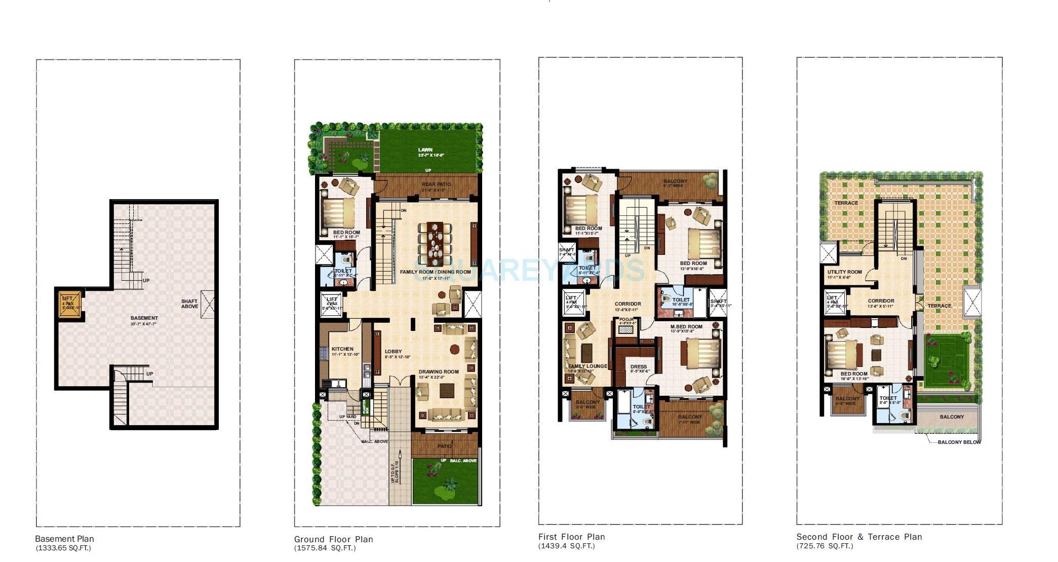 5 Bhk 5000 Sq Ft Villaincl Basement For Sale In Anant Raj Estate The Villas At Rs 5 30 Cr Gurgaon