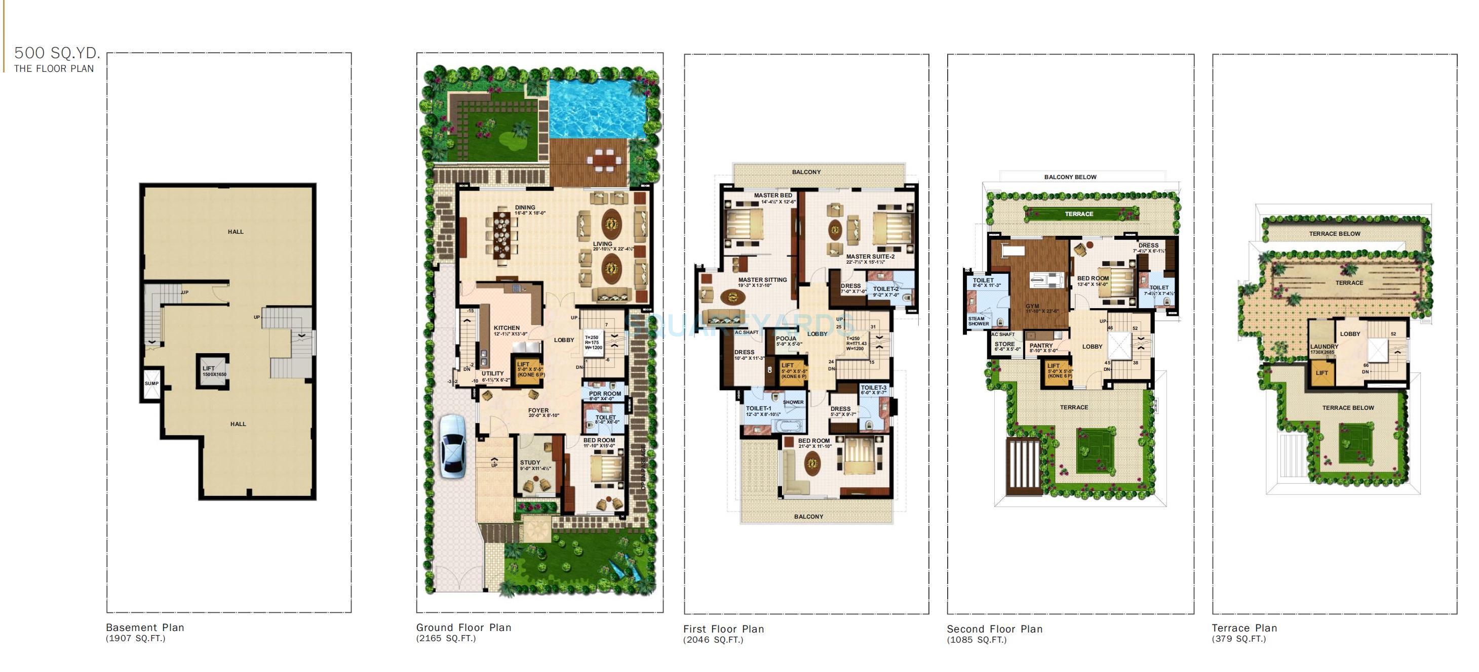 anant raj estate the villas villa 5bhk 7500sqft 1