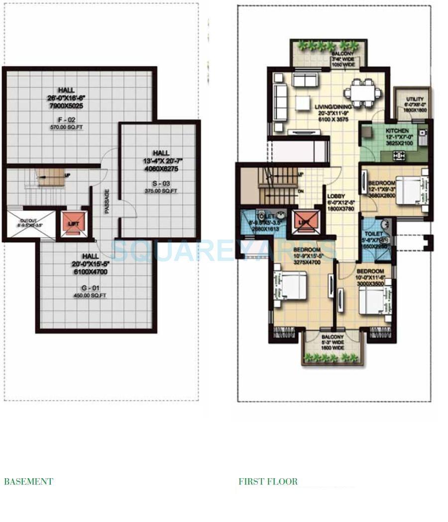 anant raj the estate floors ind floor 3bhk 1931sqft 1
