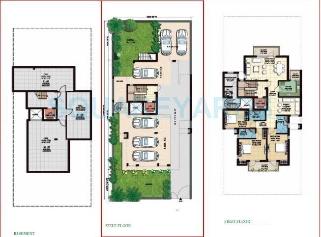 anant raj the estate floors ind floor 3bhk 2451sqft 1