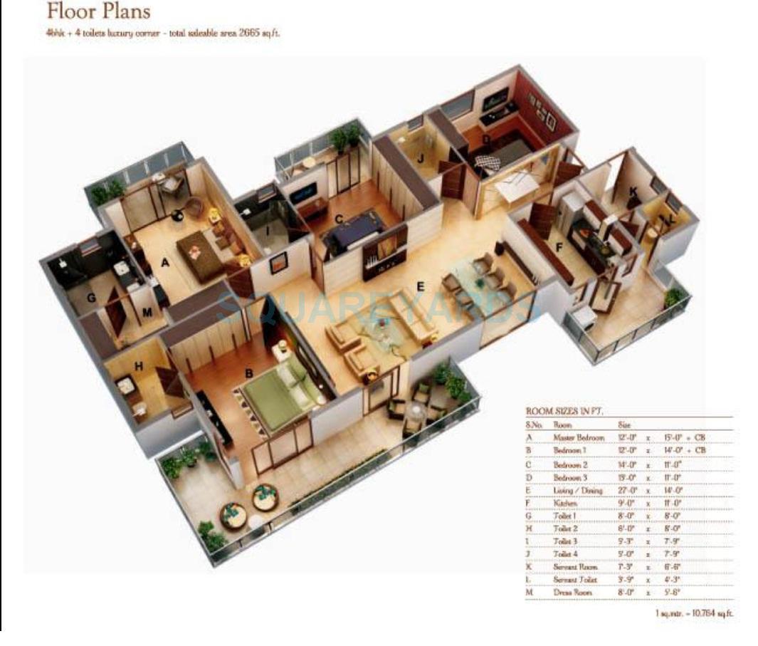 ansal amantre apartment 4bhk 2665sqft 1