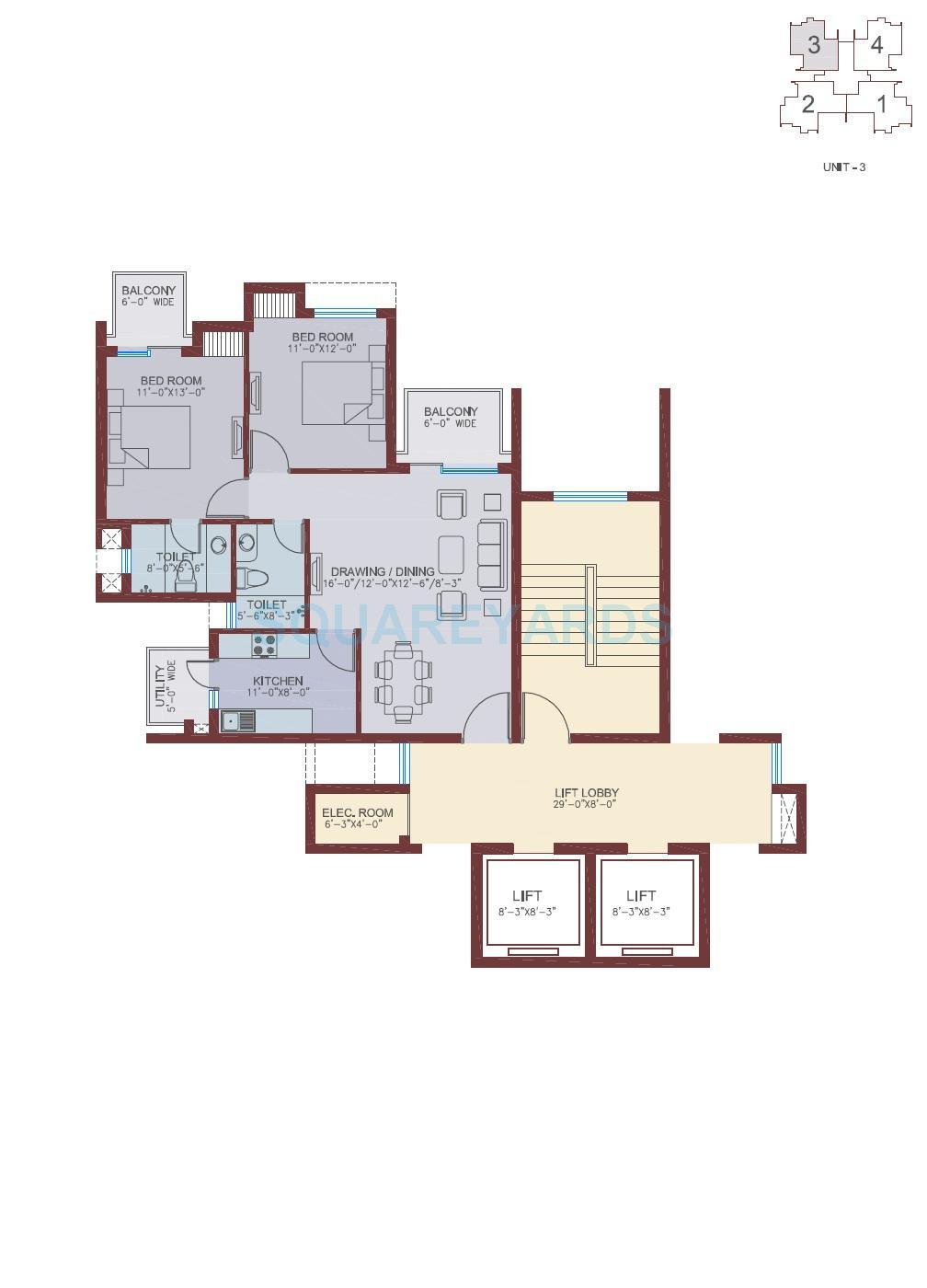 ansal api the fernhill apartment 2bhk 1348sqft 1