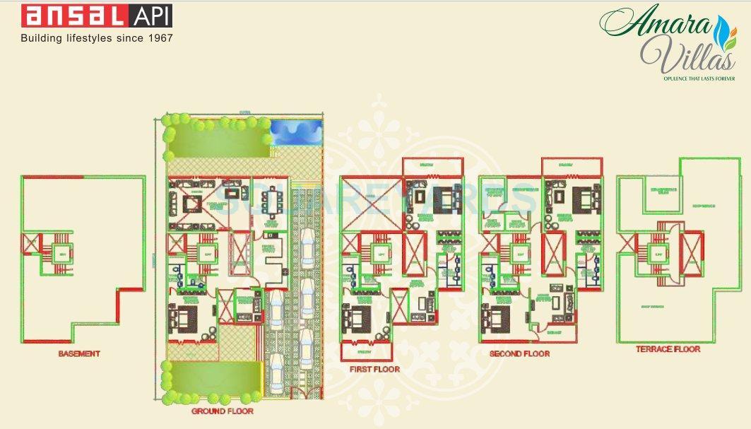 ansal esencia amara villas villa 5bhk 8025sqft 1