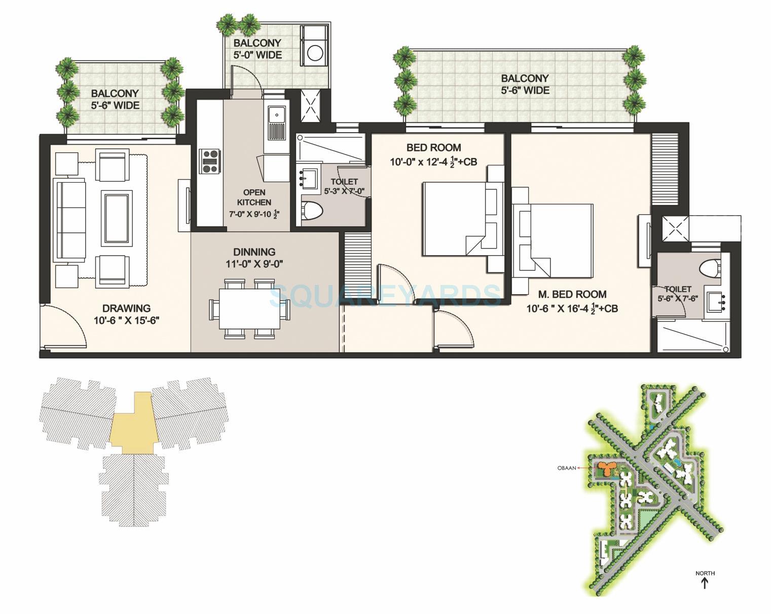 ansal highland park apartment 2bhk 1361sqft 1