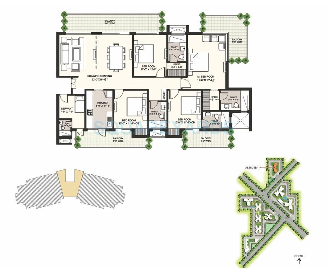 ansal highland park apartment 4bhk 2670sqft 1