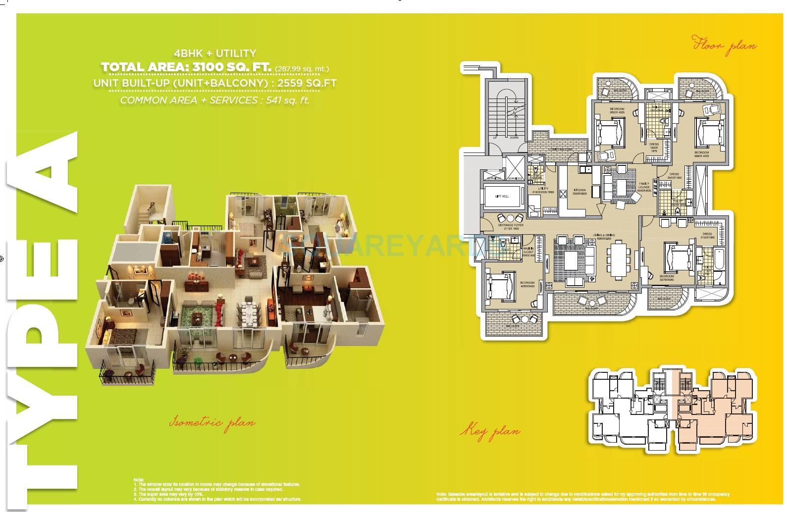 ats tangerine apartment 4bhk sq 3100sqft 1