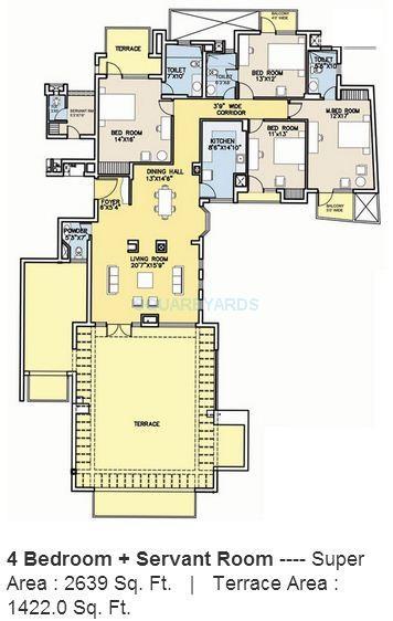 bestech park view city 2 apartment 4bhk 2639sqft 1