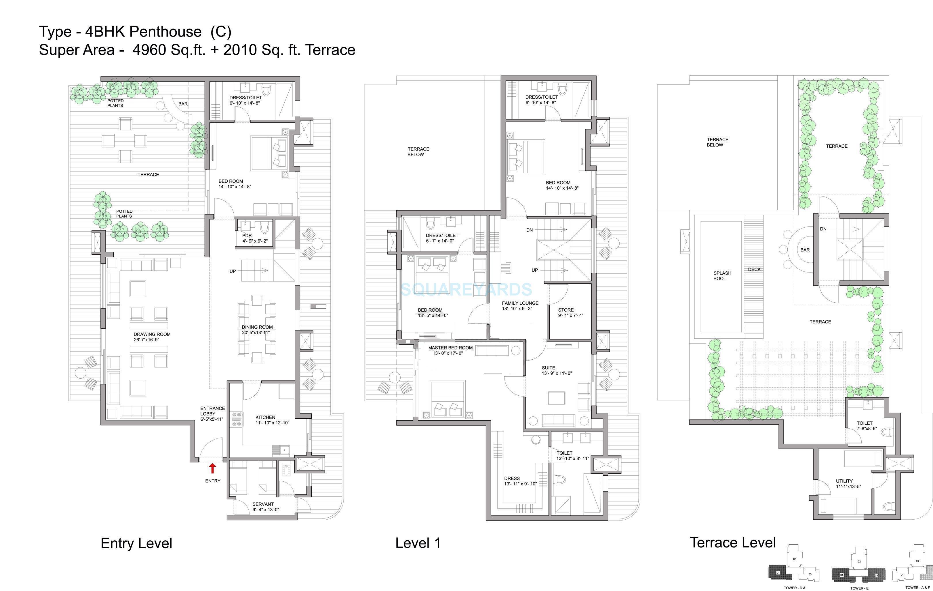 bestech park view grand spa apartments penthouse 4bhk 4960sqft 1