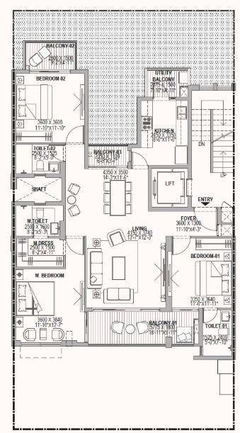 birla navya apartment 3 bhk 2147sqft 20204917154931