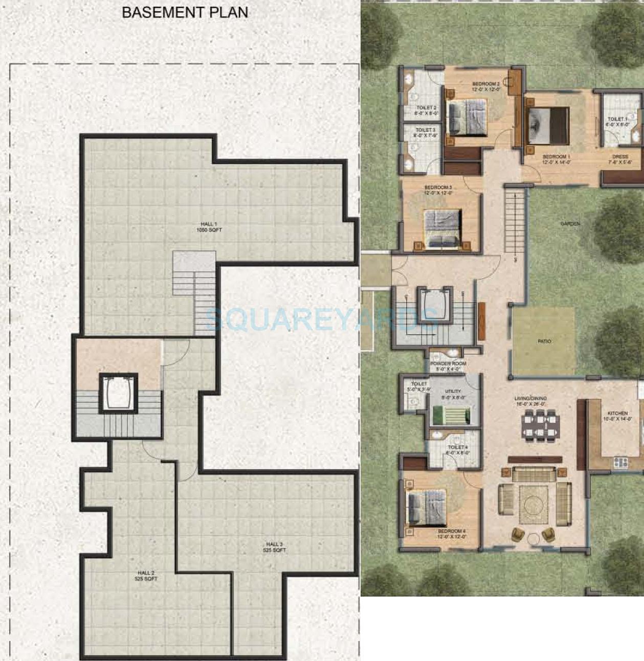 bptp amstoria country floor builder floor 4bhk gfbasement 5709sqft 1