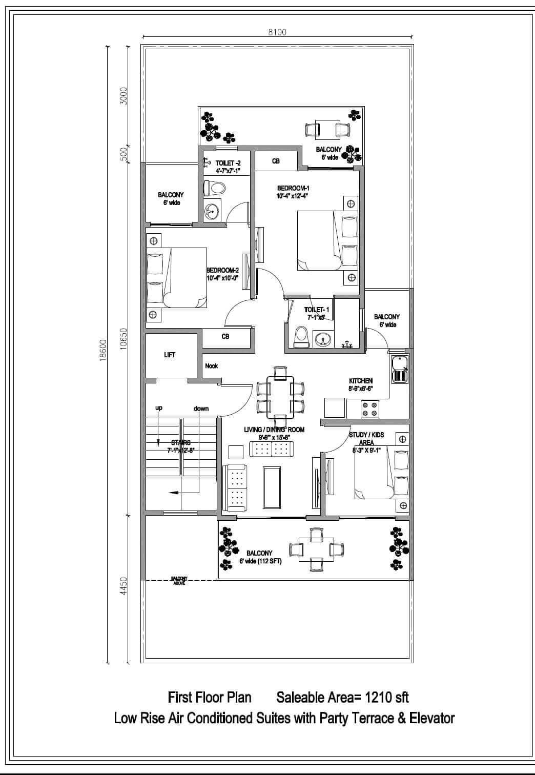 central park cerise suites apartment 2bhk 1210sqft 1