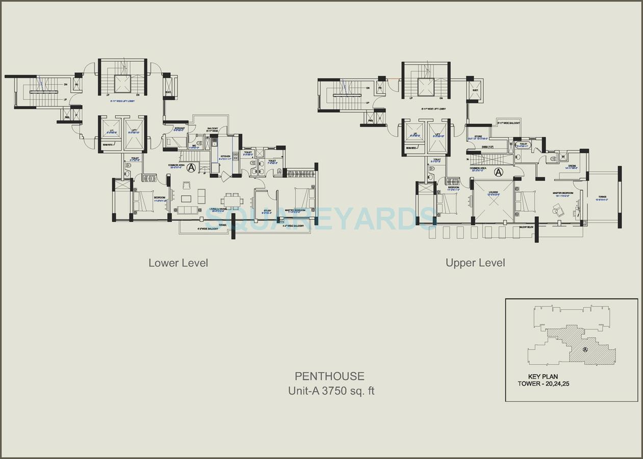 4 Bhk 3750 Sq Ft Penthouse For Sale In Central Park Ii Belgravia