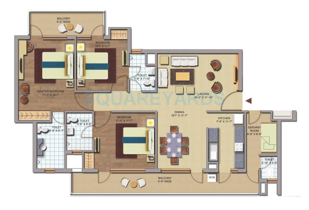 chd avenue 71 apartment 3bhk 1762sqft 1