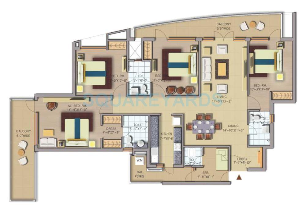 chd avenue 71 apartment 4bhk 2350sqft 1