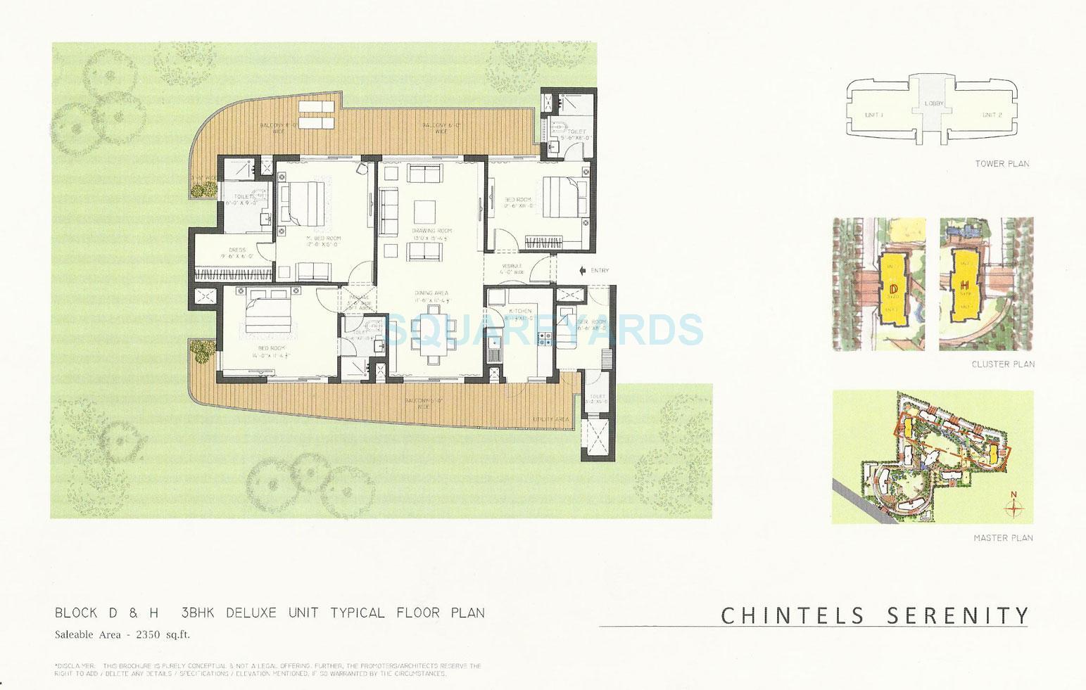chintel serenity apartment 3bhk sq 2350sqft 1