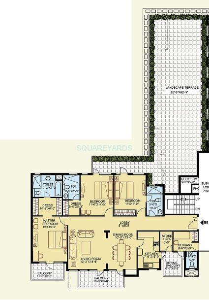 clarion the legend apartment 3bhk 2797sqft 1