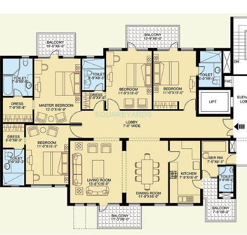 clarion the legend apartment 4bhk 2862sqft 1