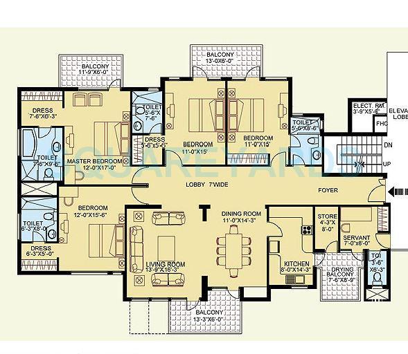 clarion the legend apartment 4bhk 2948sqft 1