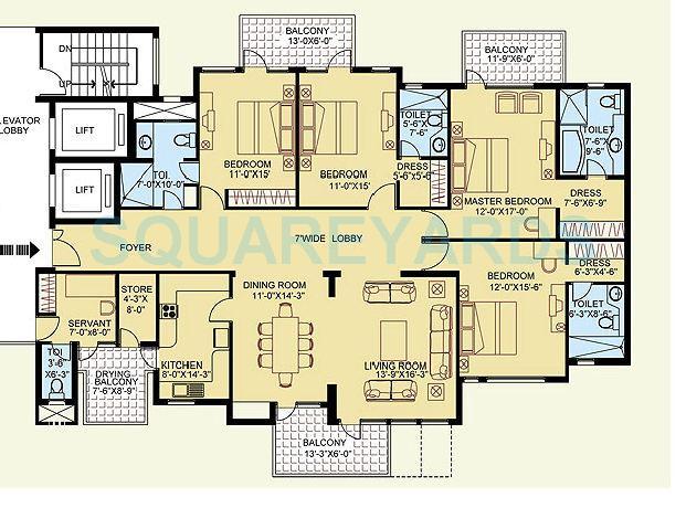 clarion the legend apartment 4bhk 2982sqft 1