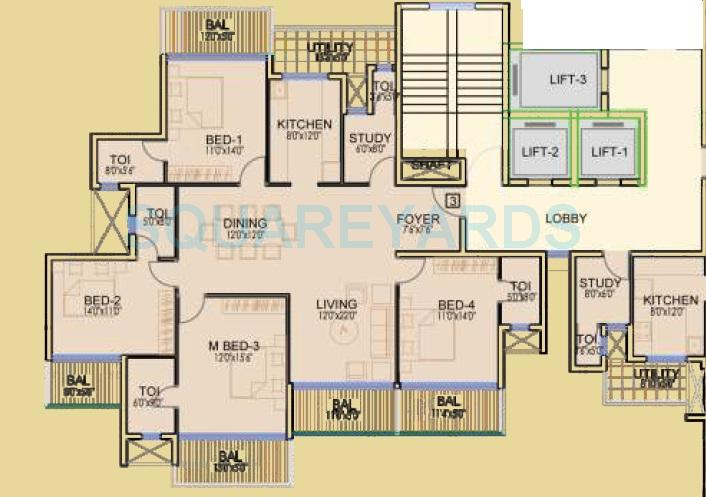 dhoot time residency apartment 4bhk 2203sqft 1