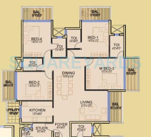dhoot time residency apartment 4bhk 2212sqft 1