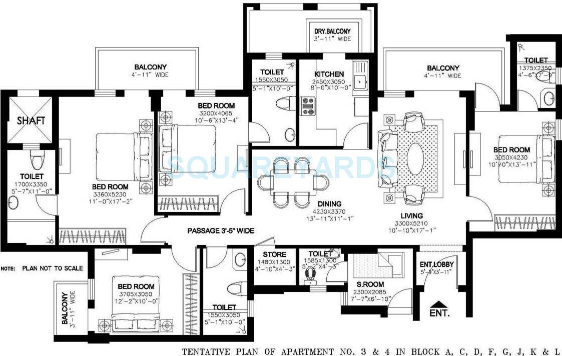 dlf new town heights i apartment 4bhk 2230sqft 1