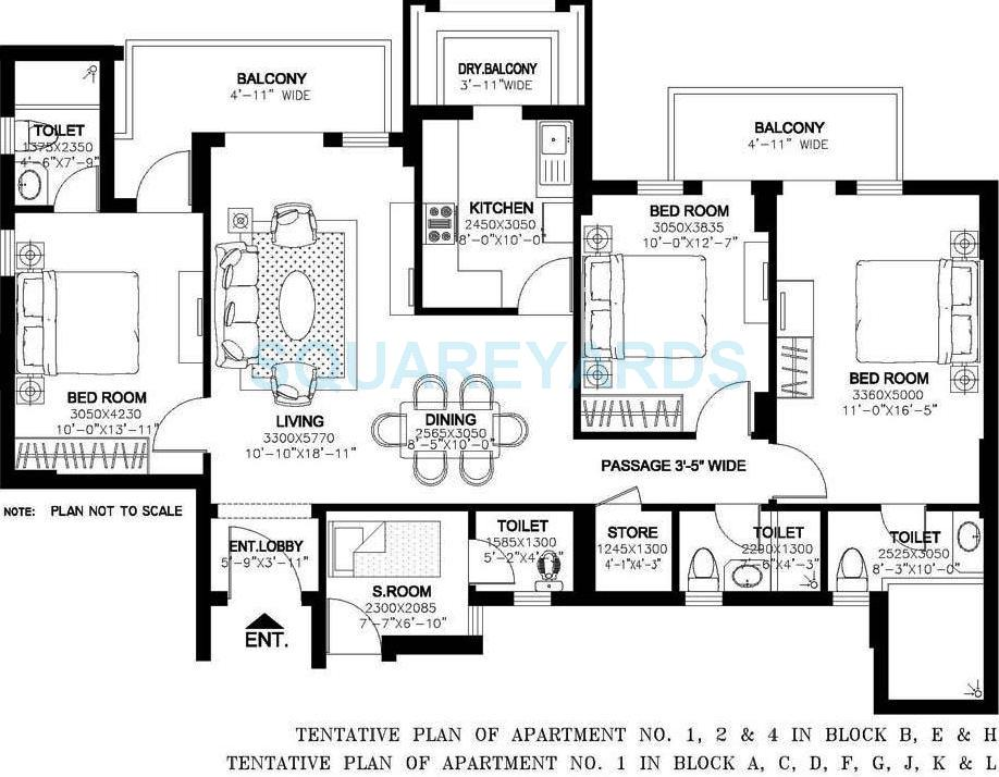dlf new town heights ii apartment 3bhk 1535sqft 1