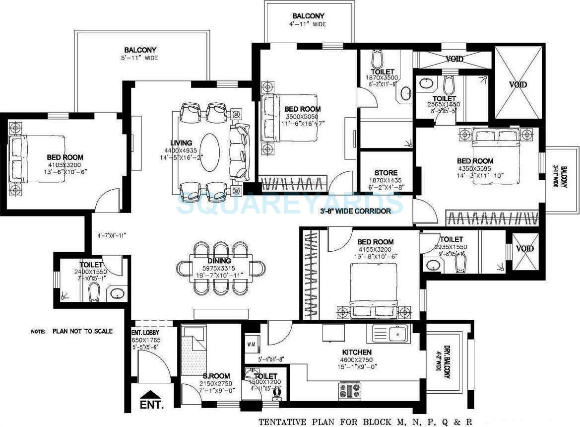 dlf new town heights ii apartment 4bhk 2690sqft 1
