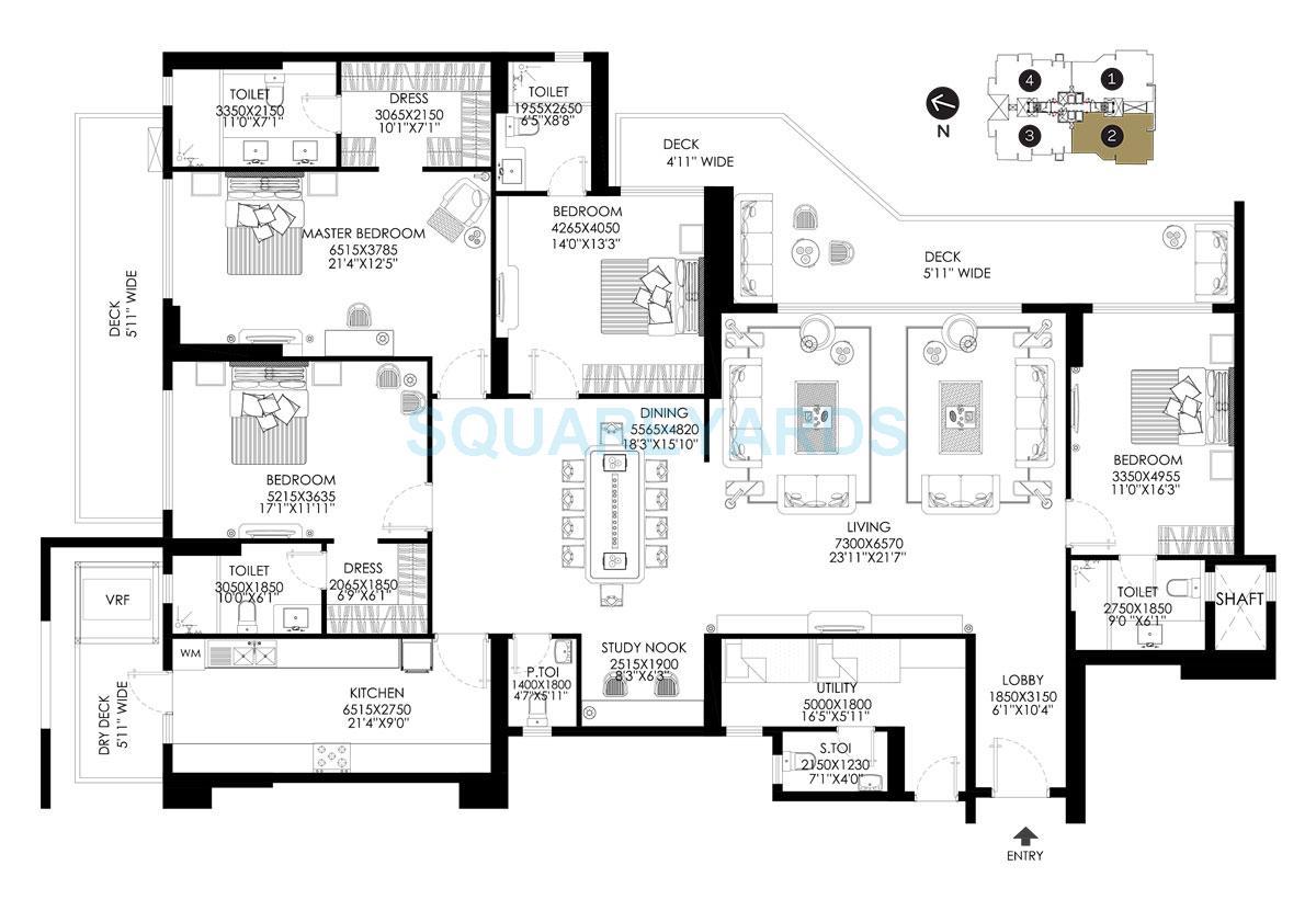 dlf the crest apartment 4bhk 3907sqft 1