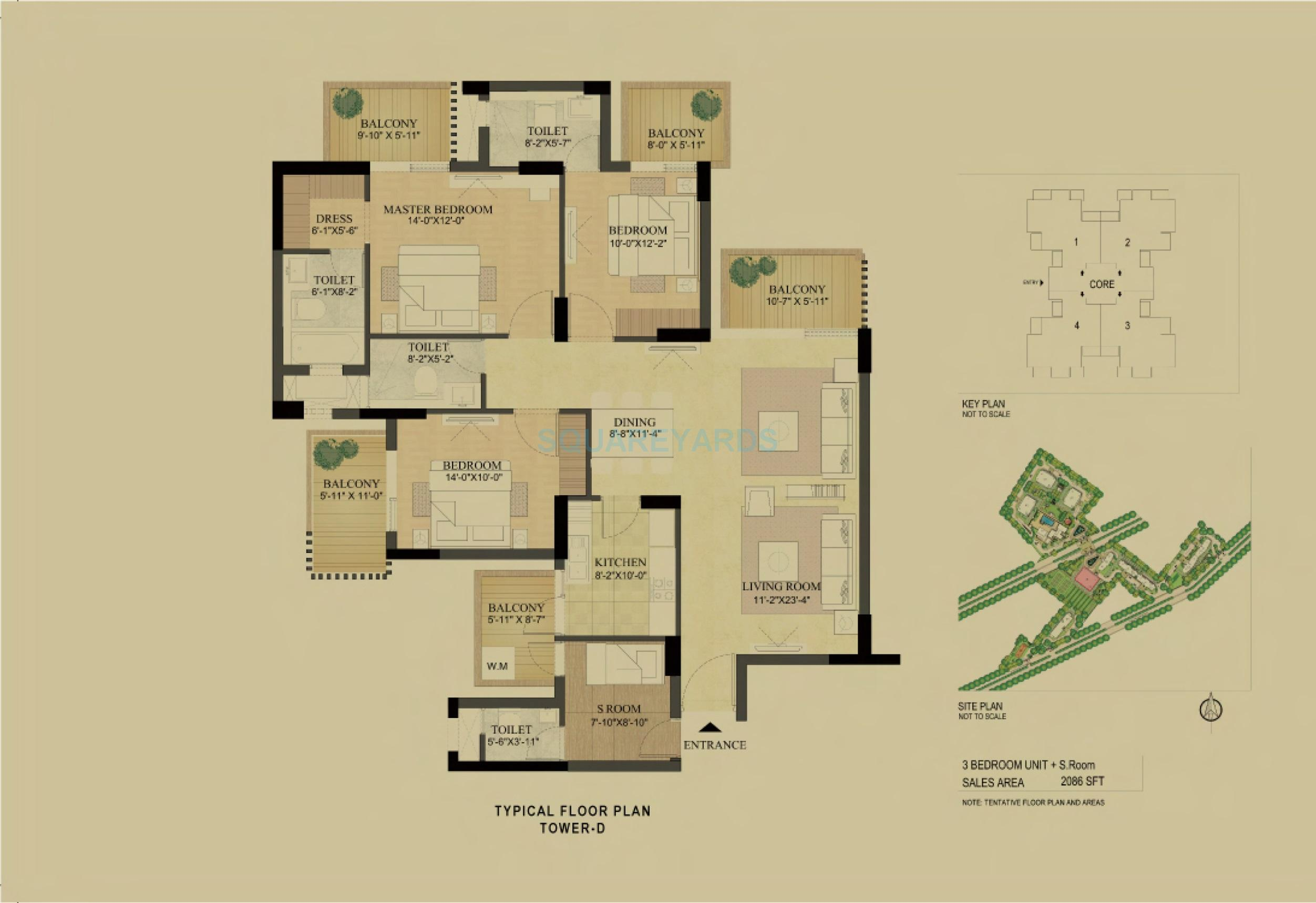 3 Bhk 2086 Sq Ft Apartment For Sale In Dlf The Primus At Rs 9009 Sq Ft Gurgaon