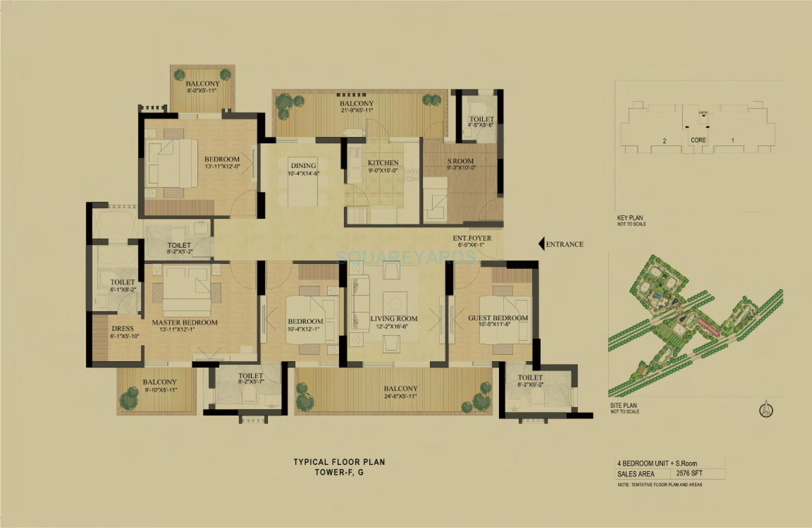 dlf the primus apartment 4bhk 2576sqft 1