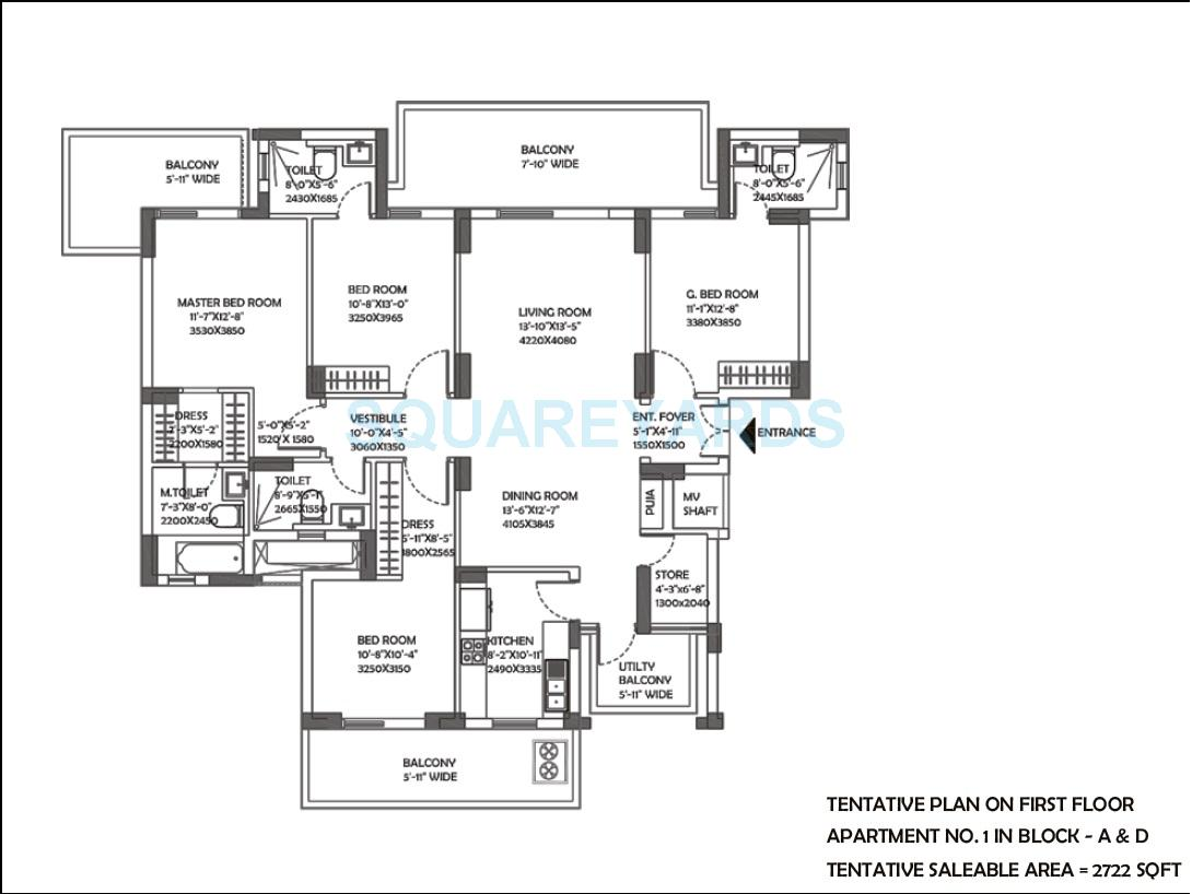 dlf the ultima apartment 3bhk 2722sqft 1