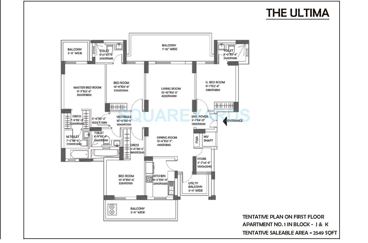 dlf the ultima apartment 4bhk 2549sqft 1